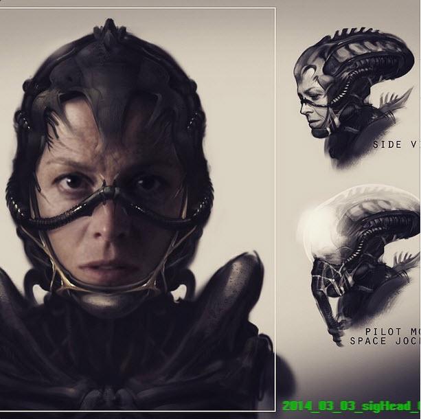 Alien 5 Concept Art - Ridley Xenomorph